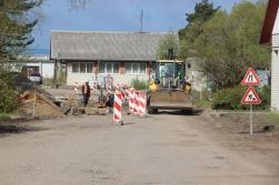 Transporta ielā notiek darbi