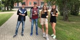 Salacgrīvas vidusskolas jaunieši - Baltijas jūras projekta vasaras skolā